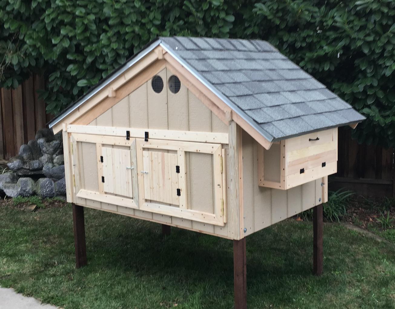 A Modular Ikea Style Coop For An Urban Backyard Backyard