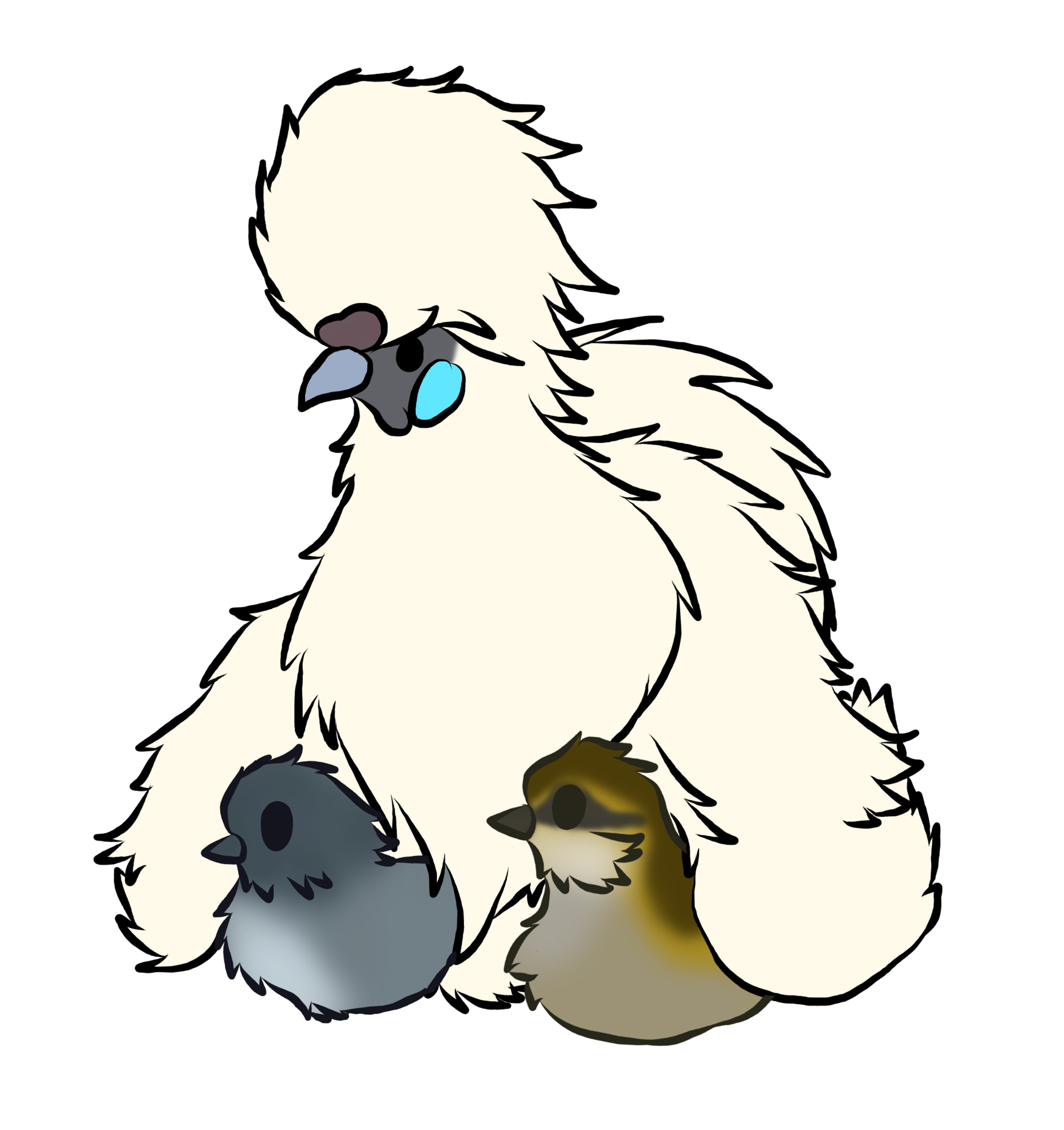 Silkie Hen White.png