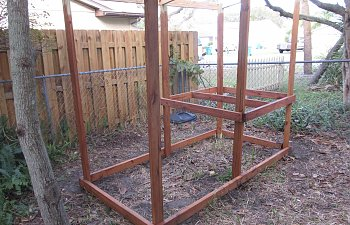 My coop - 4X8 urban chicken coop.