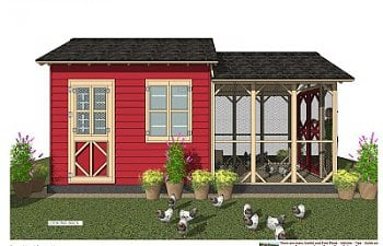 CB202 _ Combo Chicken Coop Garden Shed Plans Construction_08.jpg
