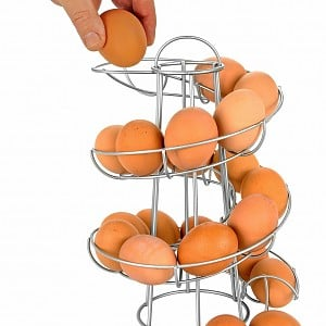 Spiraling Egg Skelter for 24 eggs by Southern Homewares