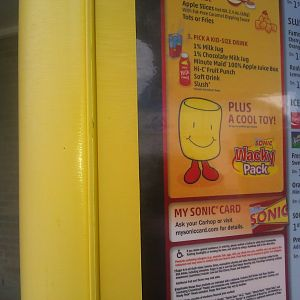 Here's an inexplicable image of the kids' meal mascot at Sonic, which looks like a cheese marshmallow. It's merely comic relief! Stressing on egg development can lead a person to drink if you don't watch it!