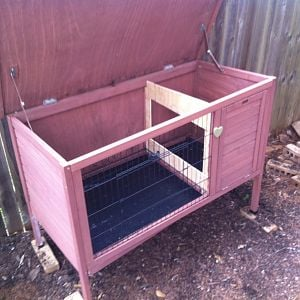 Rabbit hutch ---> chicken coop?