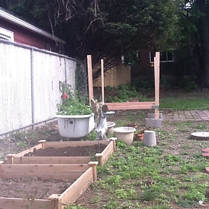 the first step doing my chicken coop, i really didnt have experience, but i did pretty good.