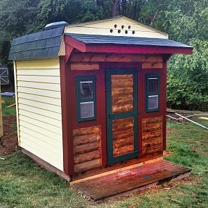 6x6 playhouse converted to a hen house