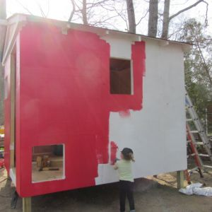painting it barn red with white trim