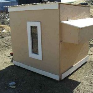 "This is going to be the new Bantam coop for the Japanese Buff tail and my new ""LIL Silkies"""