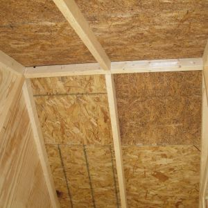 Used 2x3s for rafters(ripped 2x6s in half).