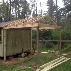 Coop/goat barn in progress