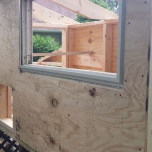 recycled window from remodel