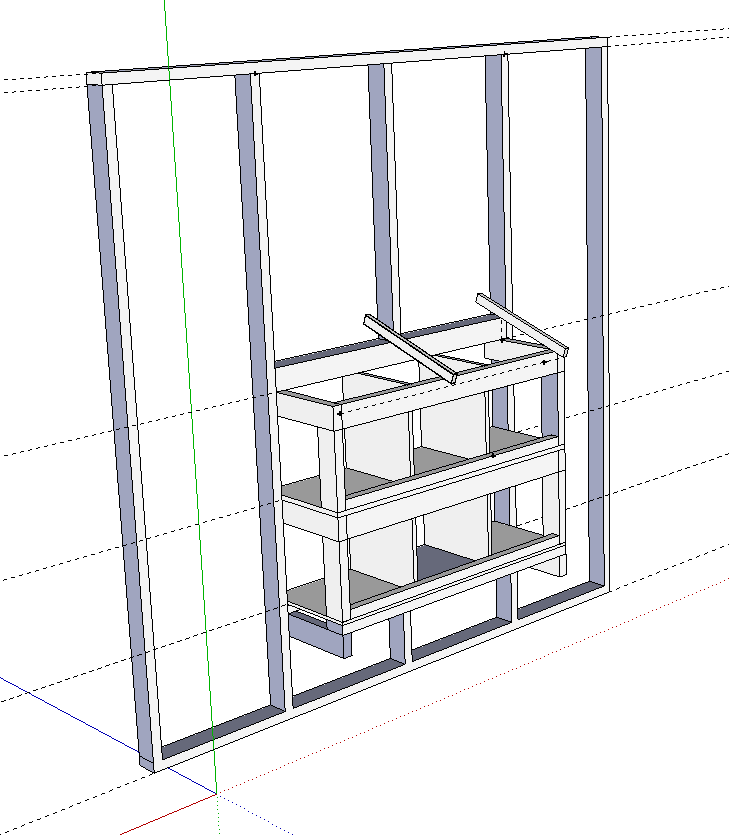 Nesting box design on Google SketchUp | BackYard Chickens on Sketchup Backyard id=76324