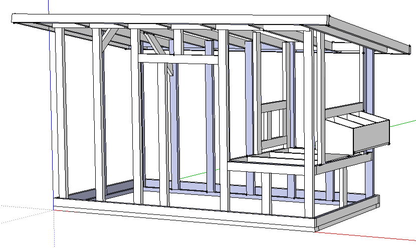 chicken coop plans from sketchup