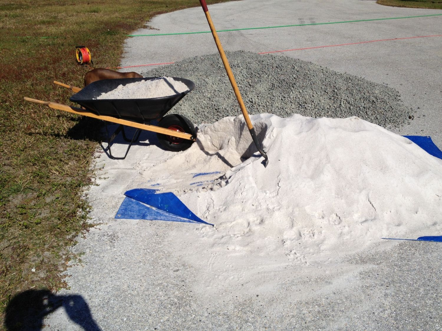 cubic yard of sand