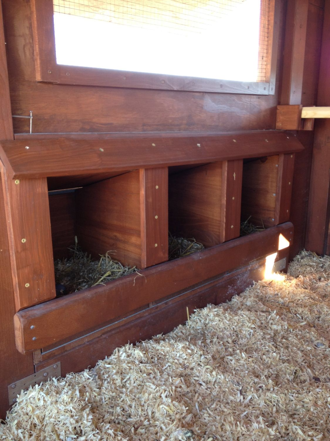 finished nesting boxes