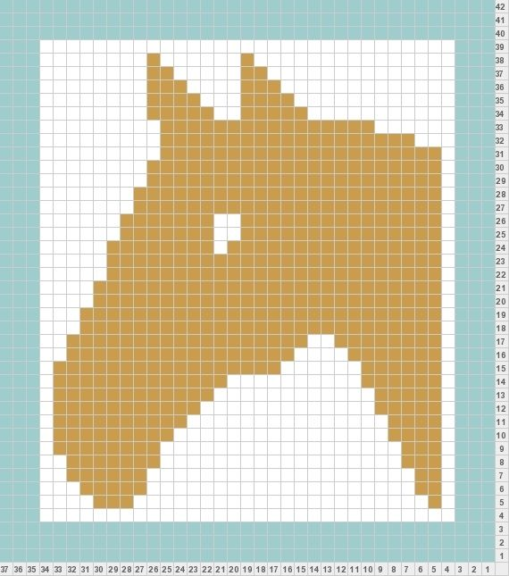 Knitting Chart Maker Free Download : Knit pony pattern