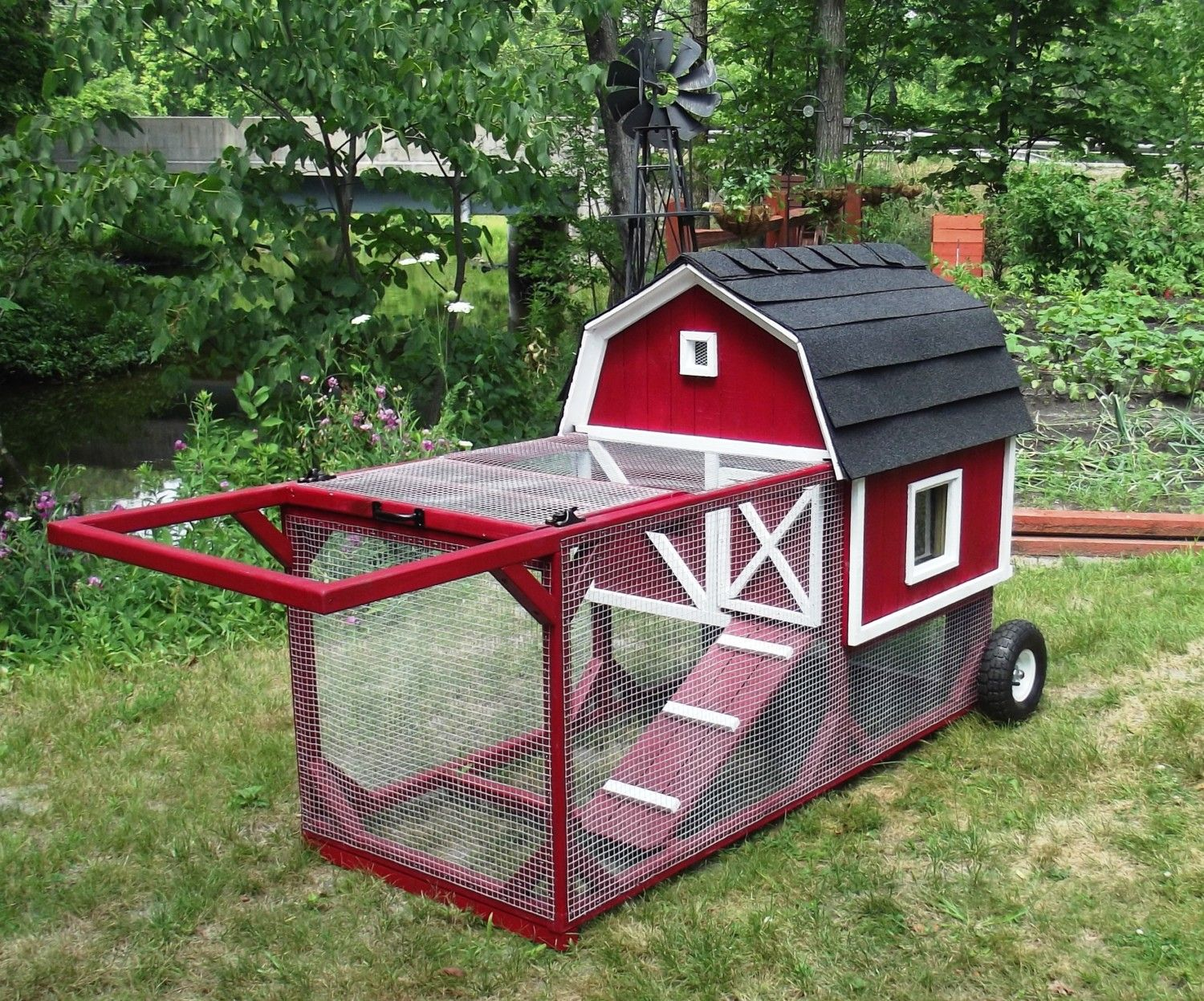 the little red barn chicken tractor by bkeee backyard
