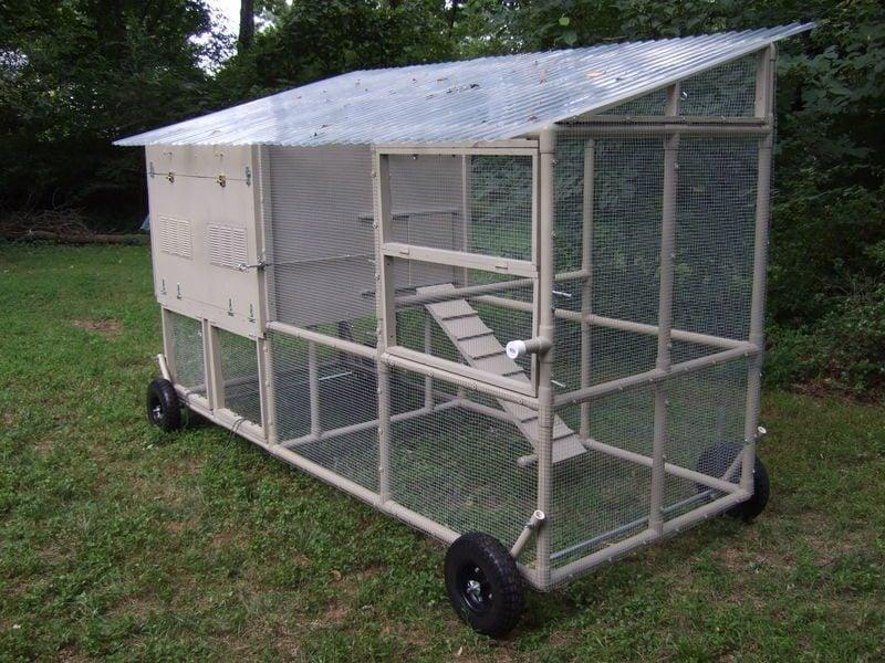 Hen hideout backyard chickens community for Portable chicken yard