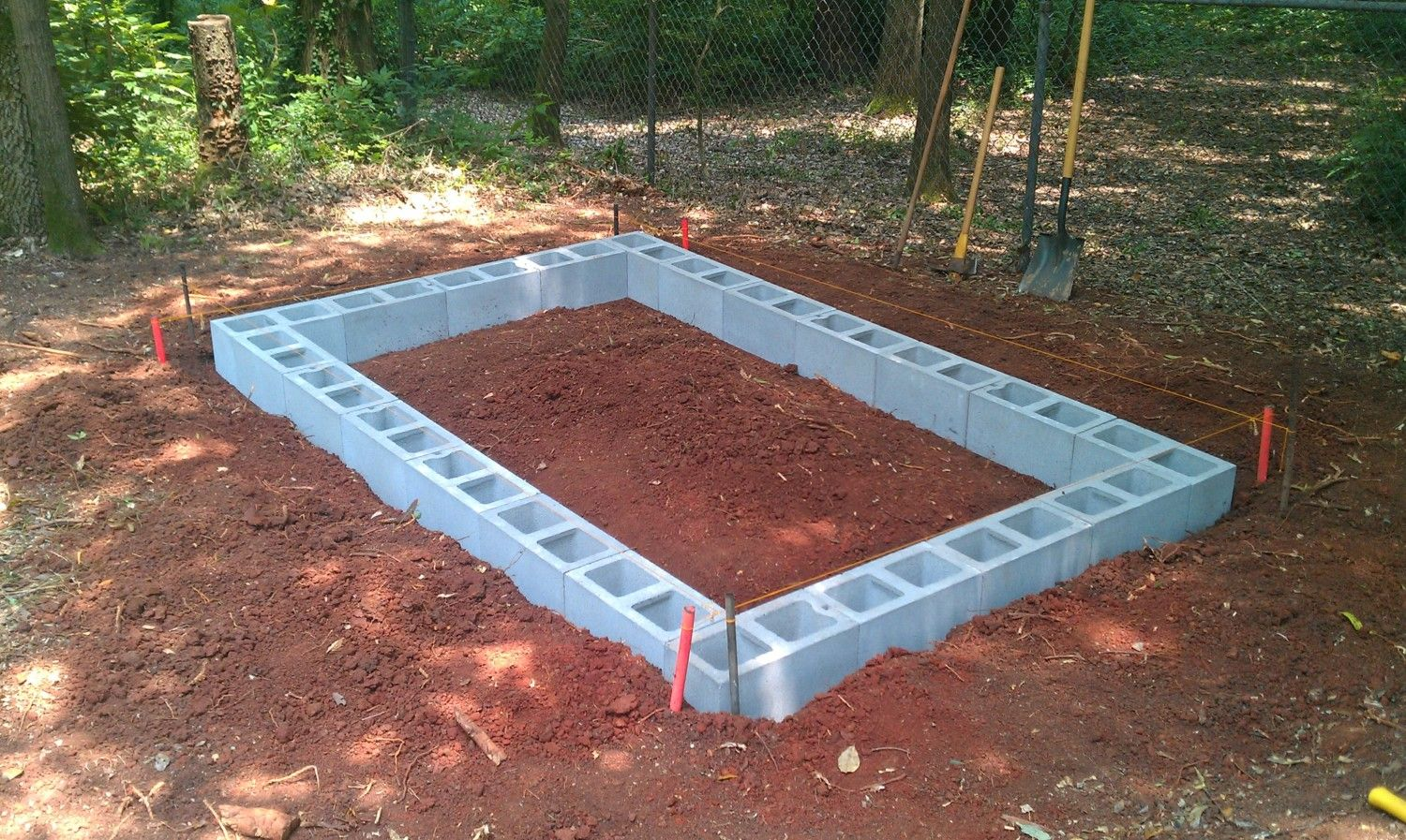 how to build a concrete block shed foundation gabret