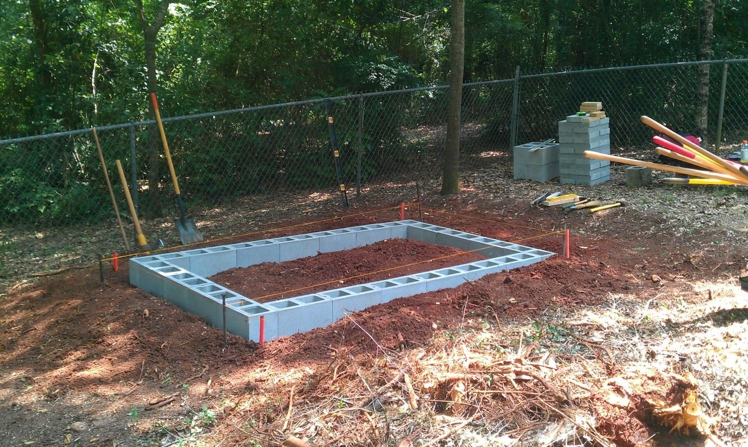 The egg stop backyard chickens community for How to build a block foundation