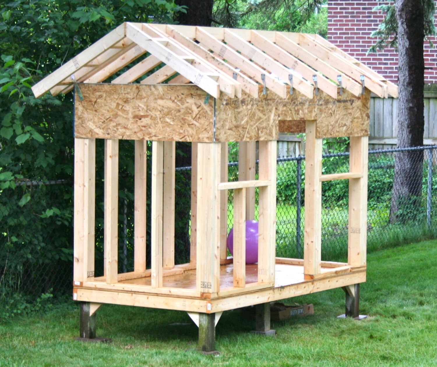 Woodwork simple playhouse design pdf plans for Blueprints for playhouse