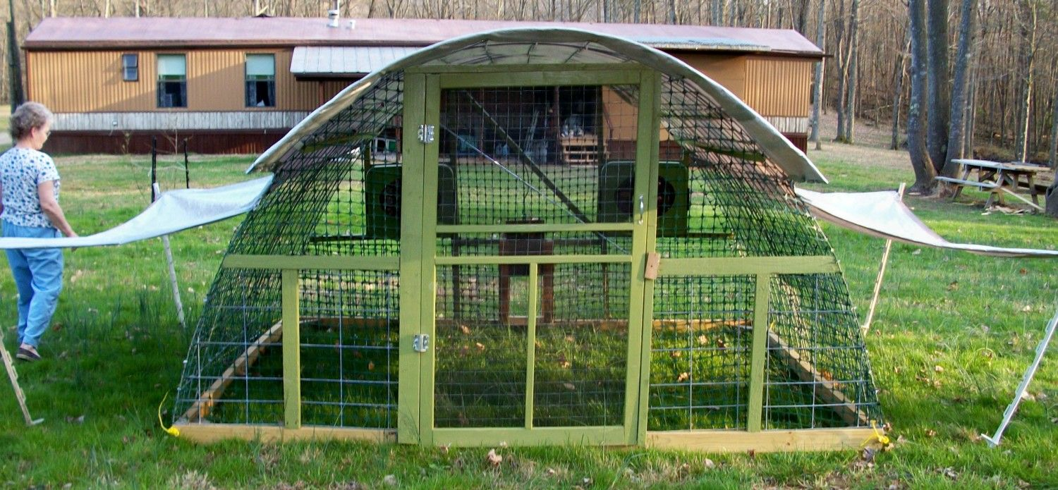 Meat chicken coop page 5 for Duck house door size
