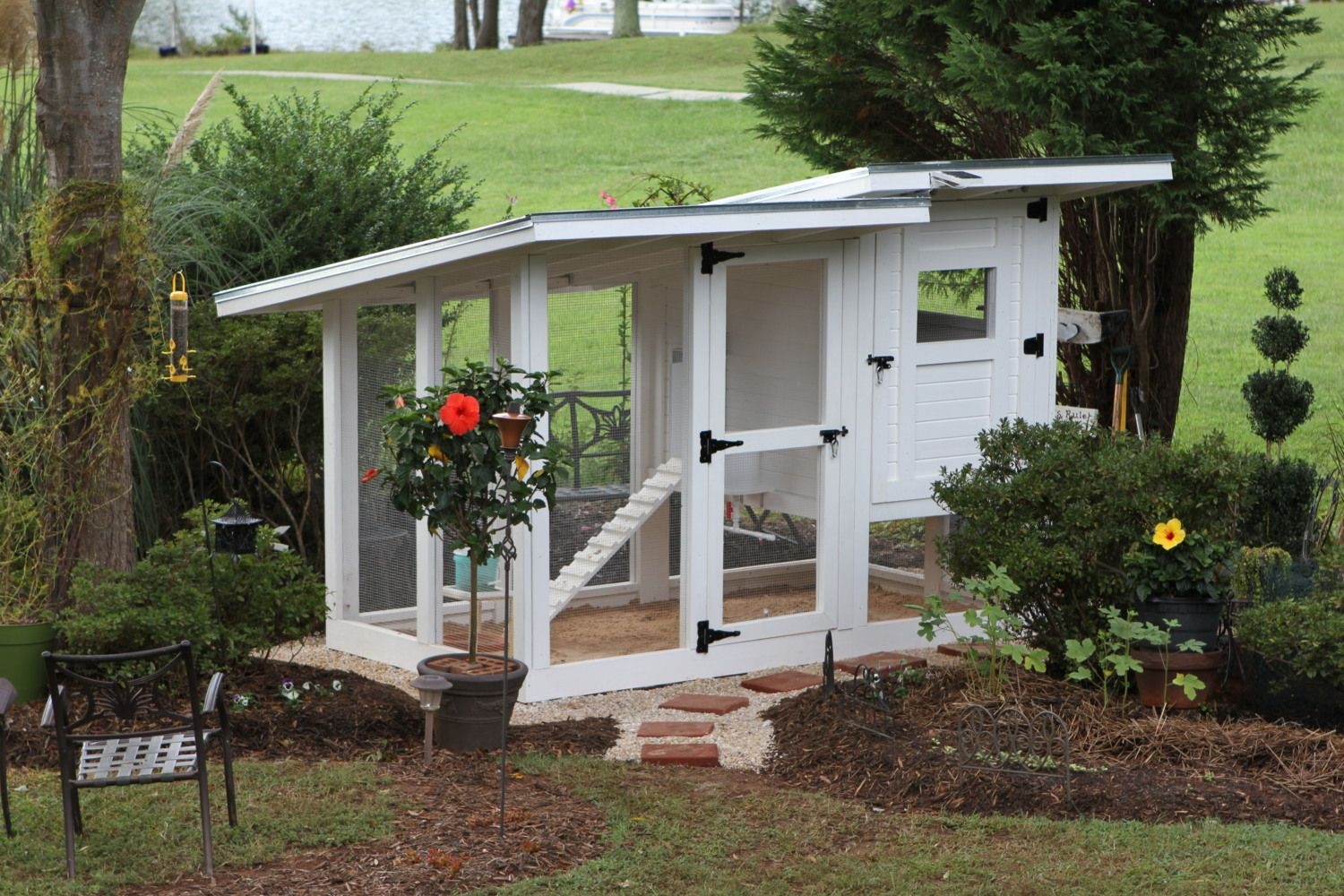 My urban chicken coop it is time for a makeover shabby for Moving chicken coop plans