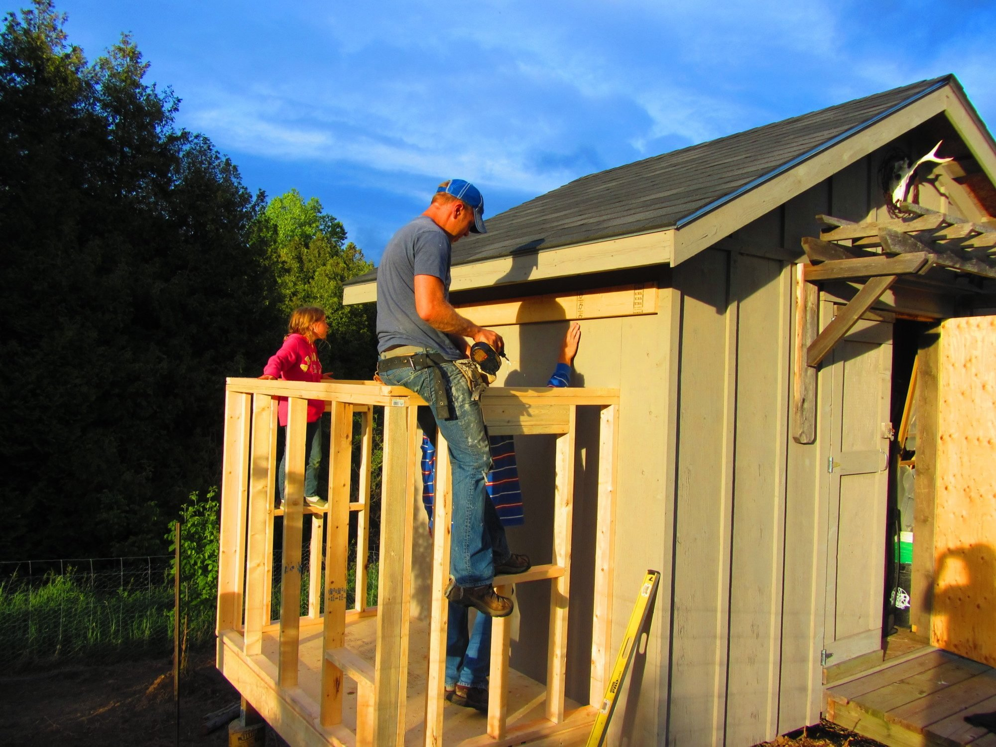 Shed addition backyard chickens community Shed addition