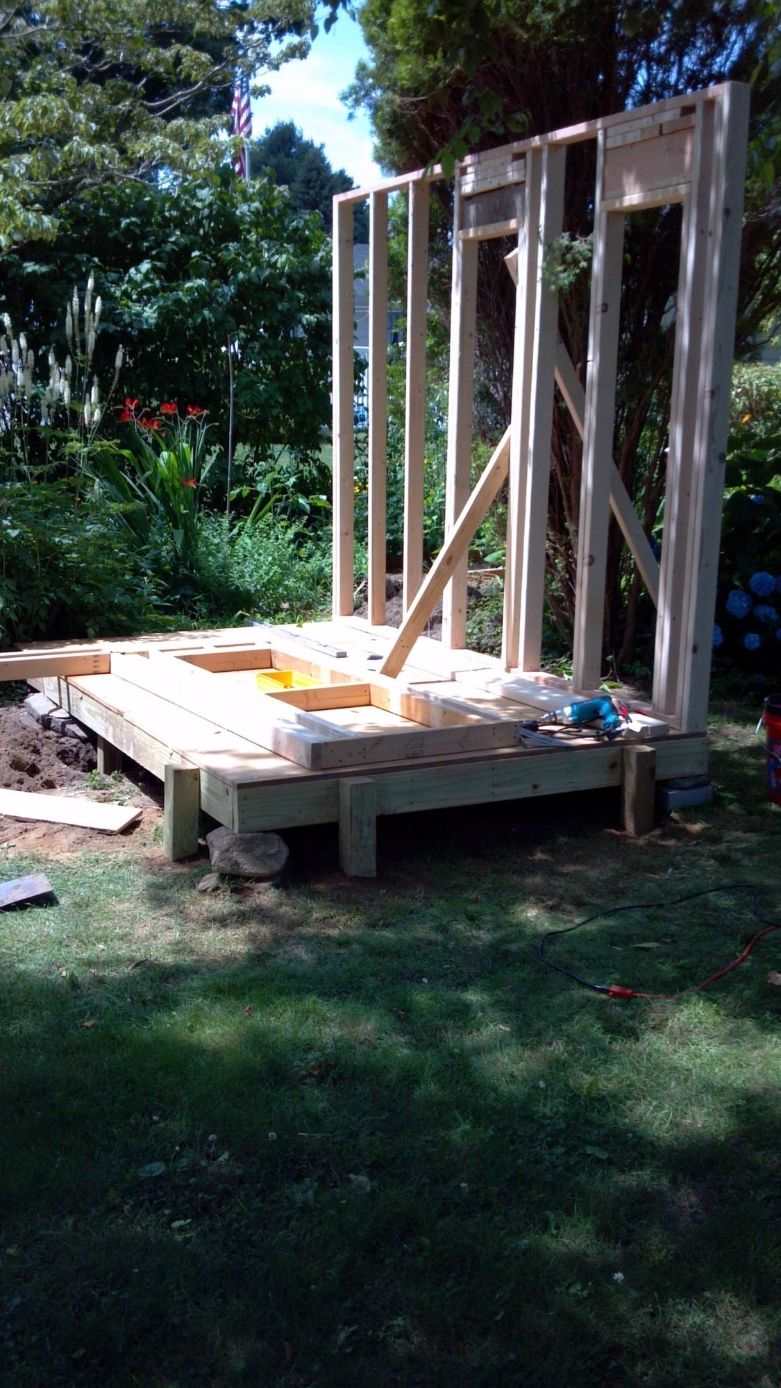 Ham building a shed foundation on blocks guide for Types of shed foundations