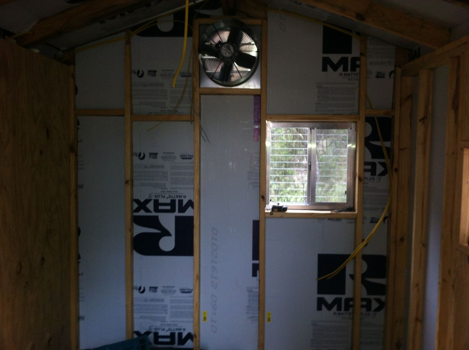 1936 #61482F The Next Focus Was Interior. We Added Insulation Sheeting And Framed  picture/photo Interior Doors Austin Tx 38792592