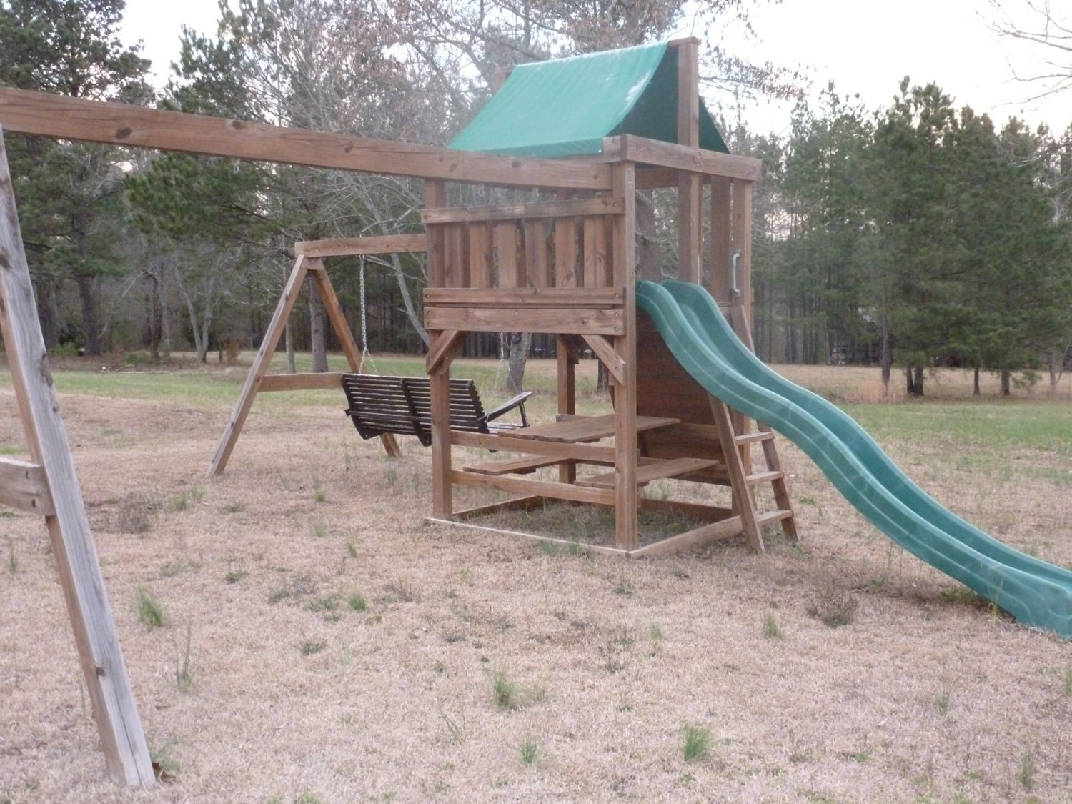wooden playset converted to coop need suggestions backyard