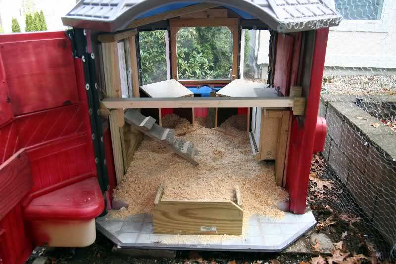 converting playhouse into a coop backyard chickens