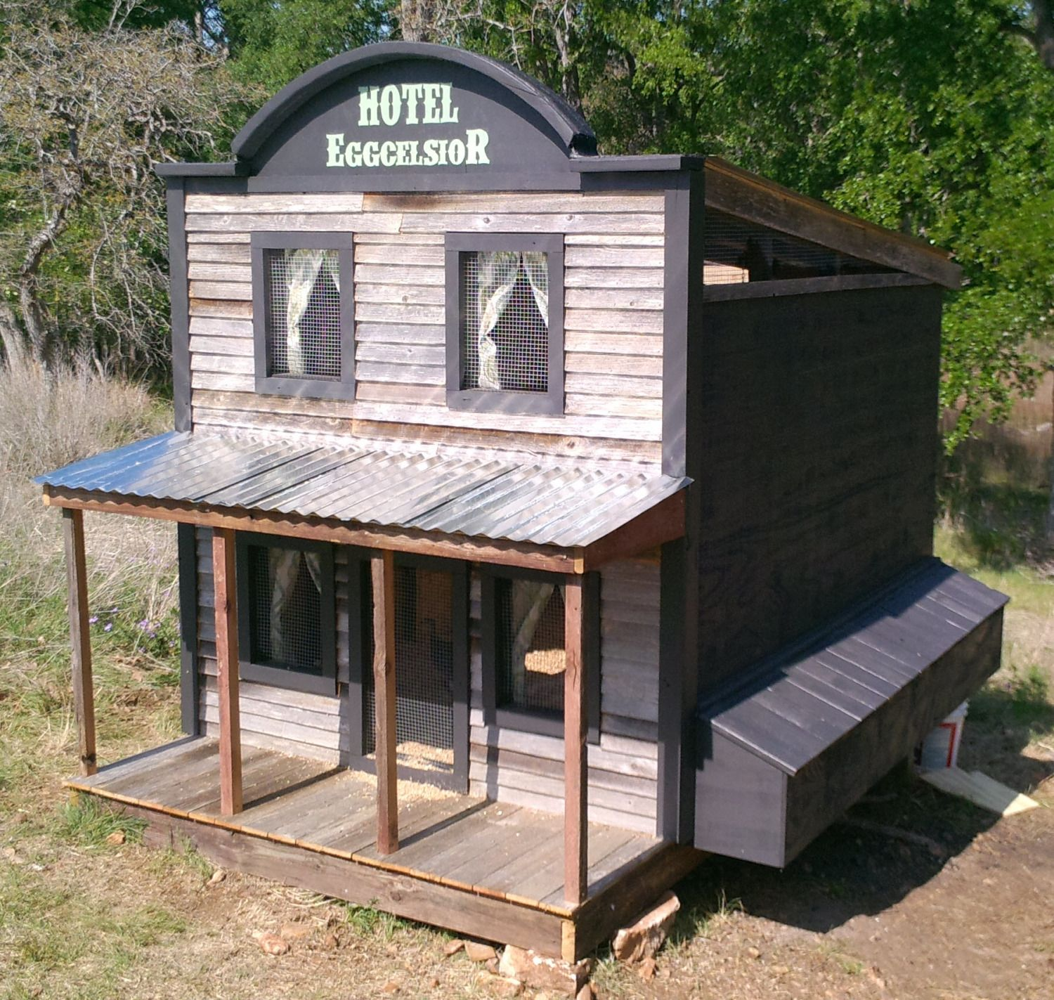 chicken coop design inspired by the wild wild west