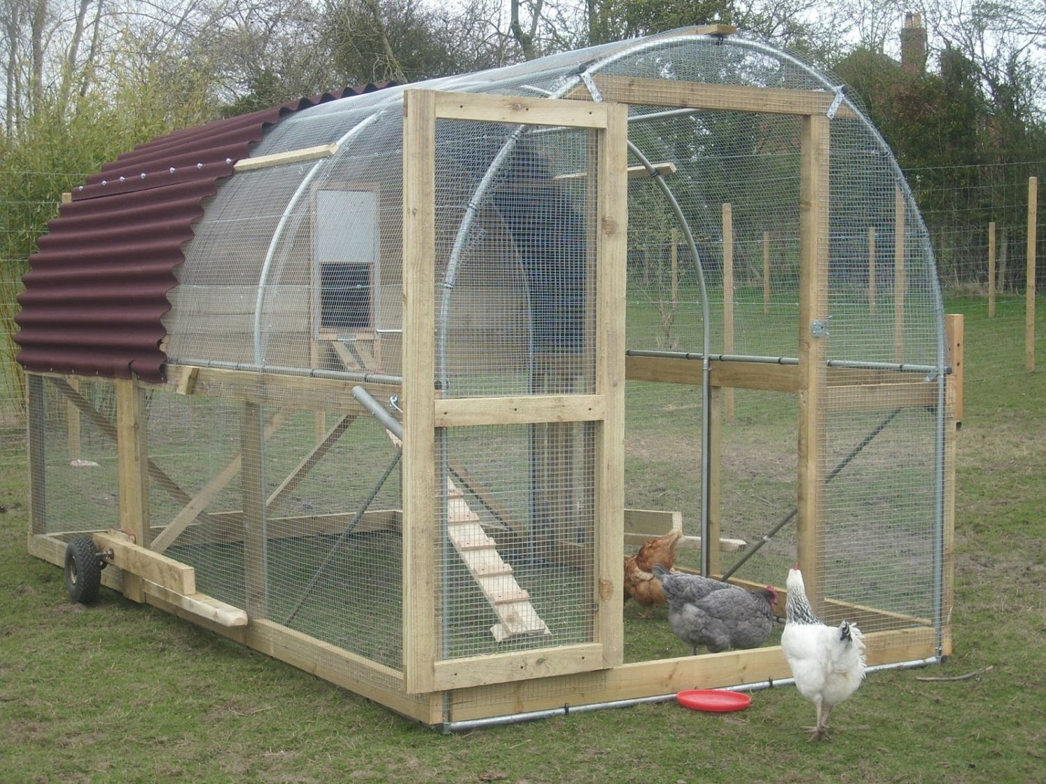 Roofing Materials For Coop And Run Backyard Chickens