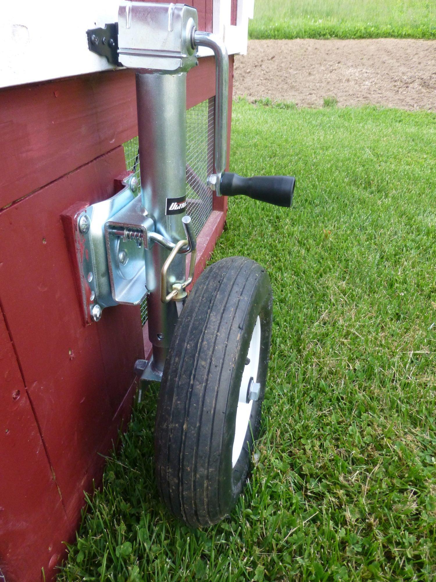 Tractor Wheels Chicken Co Op : Wheel and run floor ideas for coop tractor