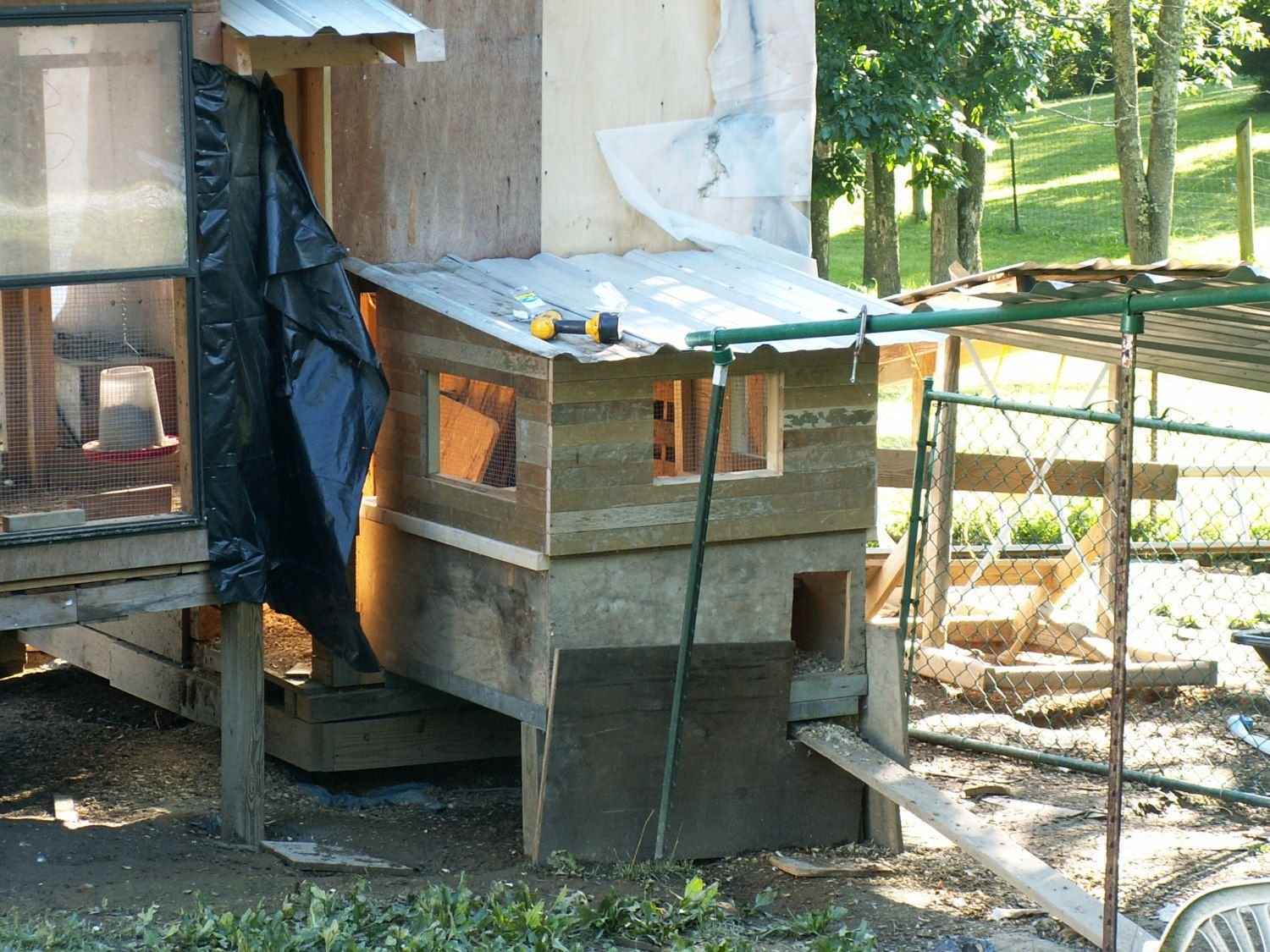 this is my multi-purpose addition-I plan on using it as a brooder house-separator room