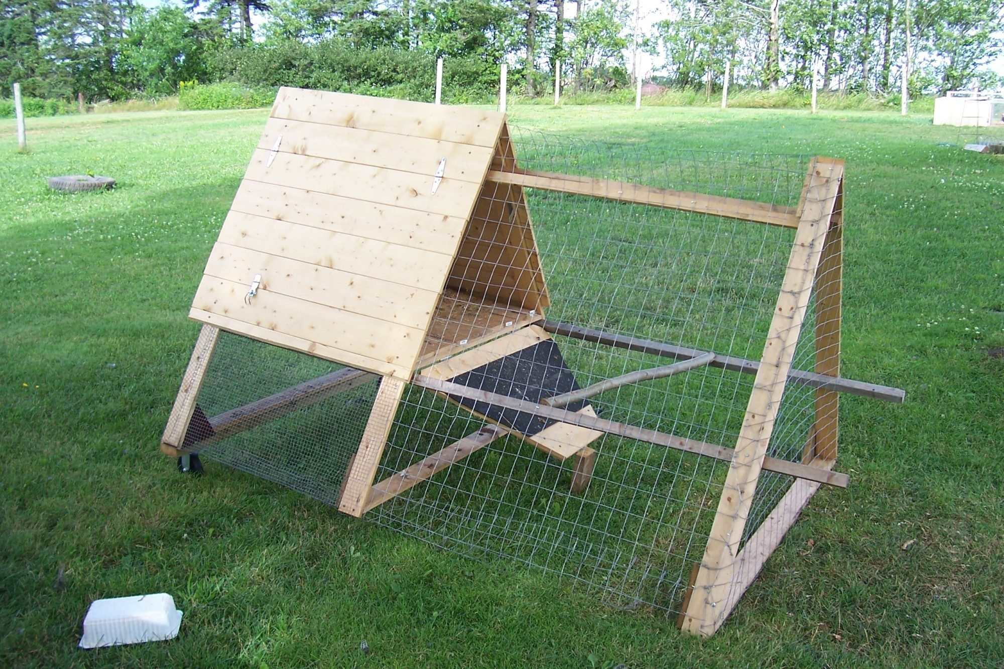 Triangle Coop Tractor For Broody Hen Backyard Chickens
