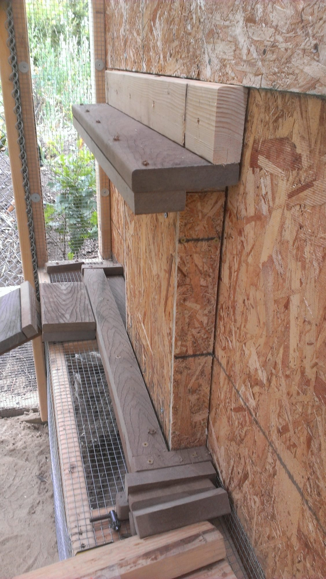 Poultry Palace Inside A Solar Pool Heater Panel Rack