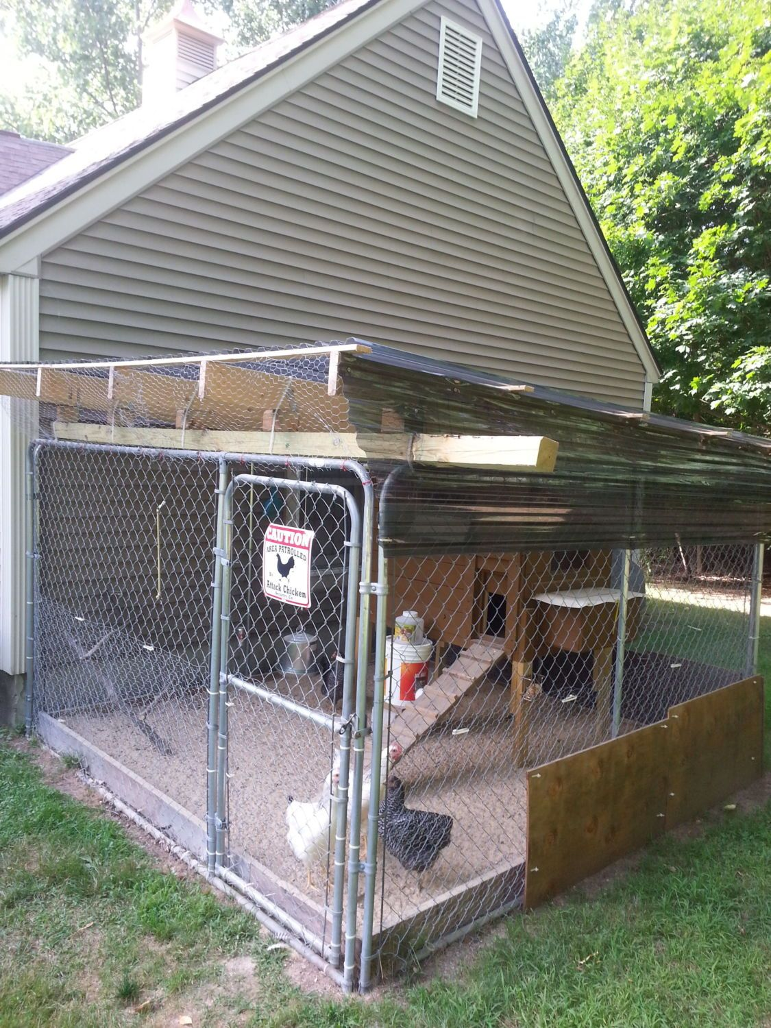 Exceptional [ IMG] 10x10 Dog Kennel With Suntuff 12ft Corrugated Roofing.