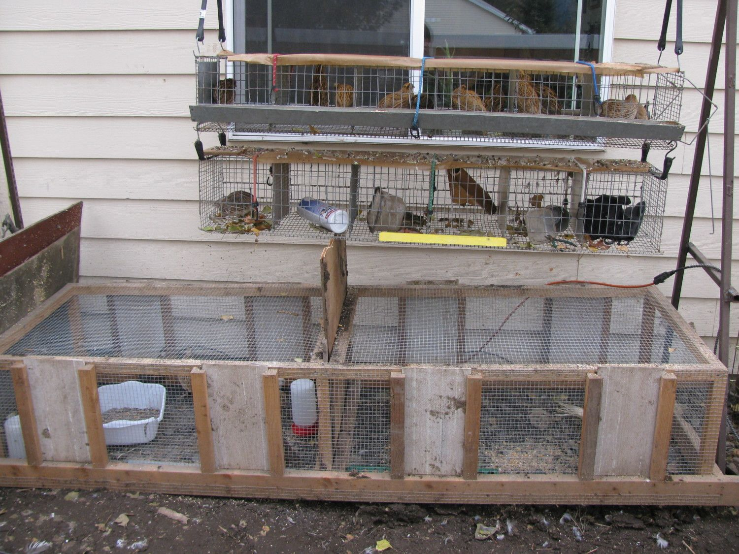 All wire cage plans for Quail housing plans