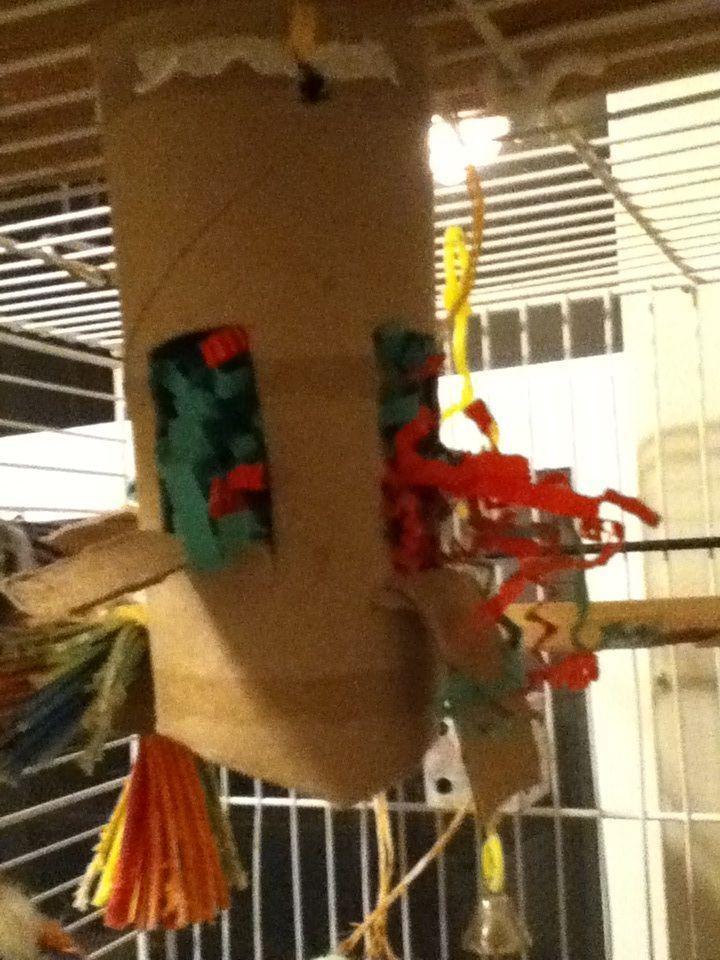 Home made bird toys