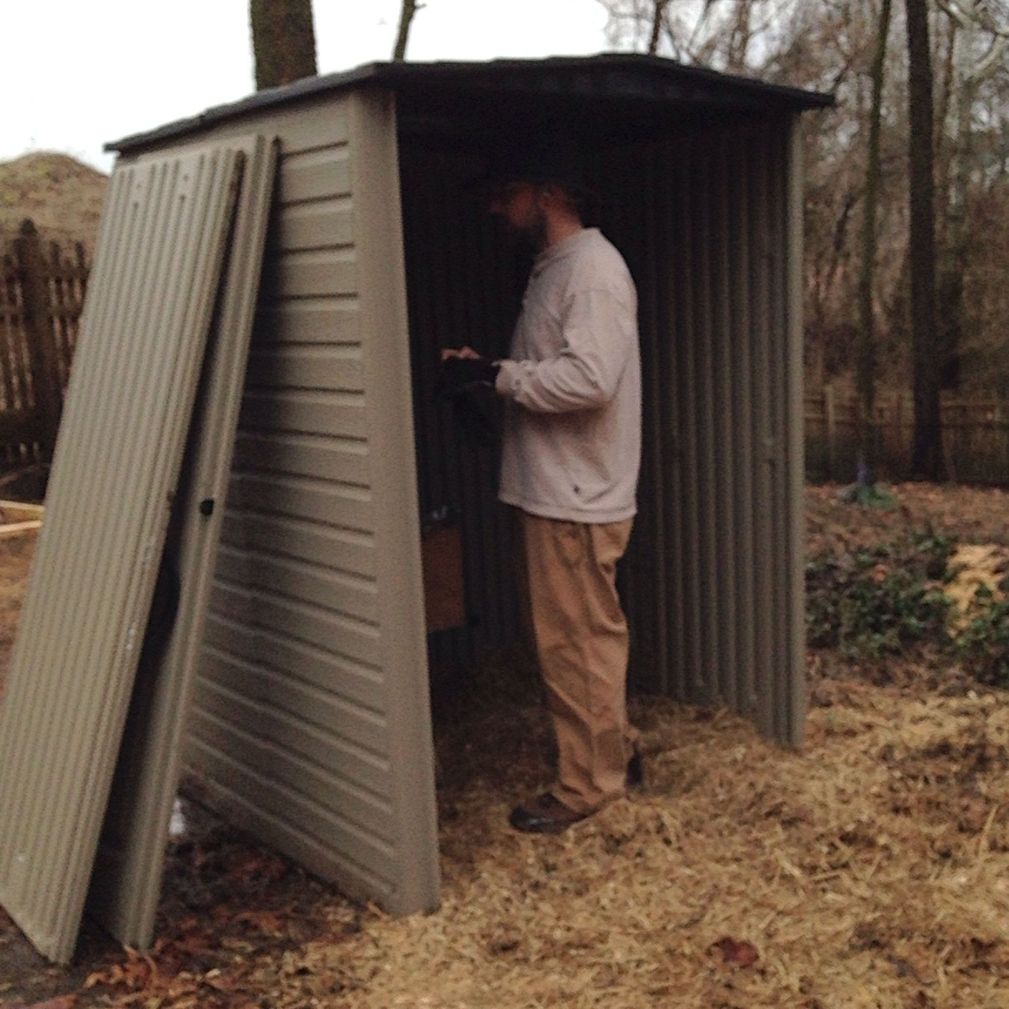 Rubbermaid Storage Shed As Coop Backyard Chickens