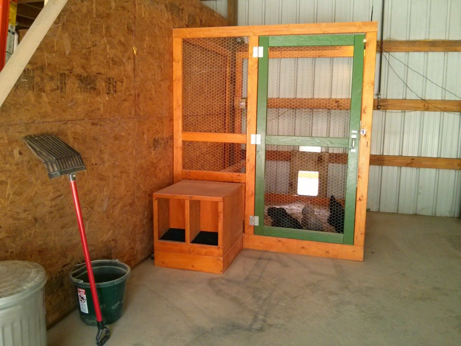 pole barn chicken coop 1