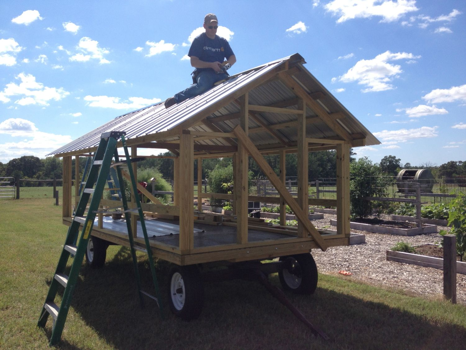Large Portable Chicken Coop Backyard Chickens