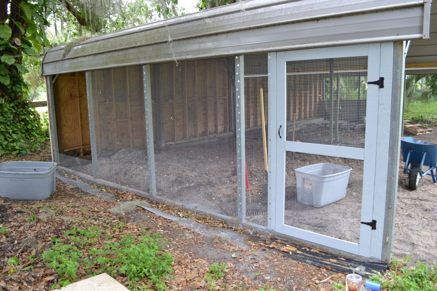 Carport To Coop Run Conversion Backyard Chickens