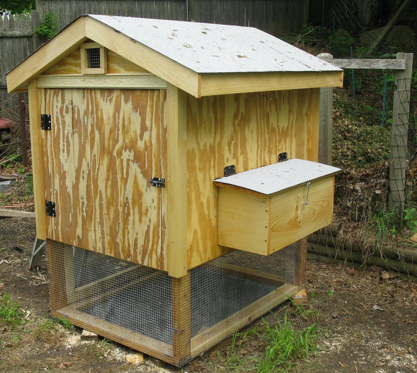 just another small coop but with dimensions backyard chickens