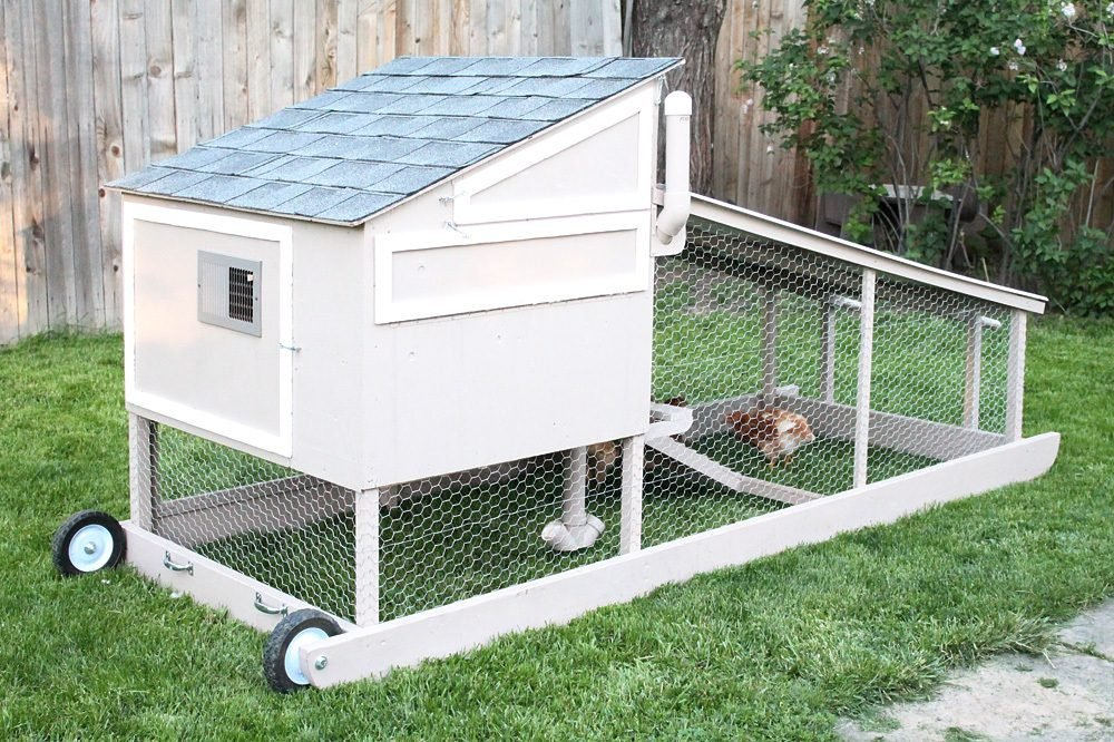 Fully automated chicken tractor backyard chickens community for Big chicken tractor