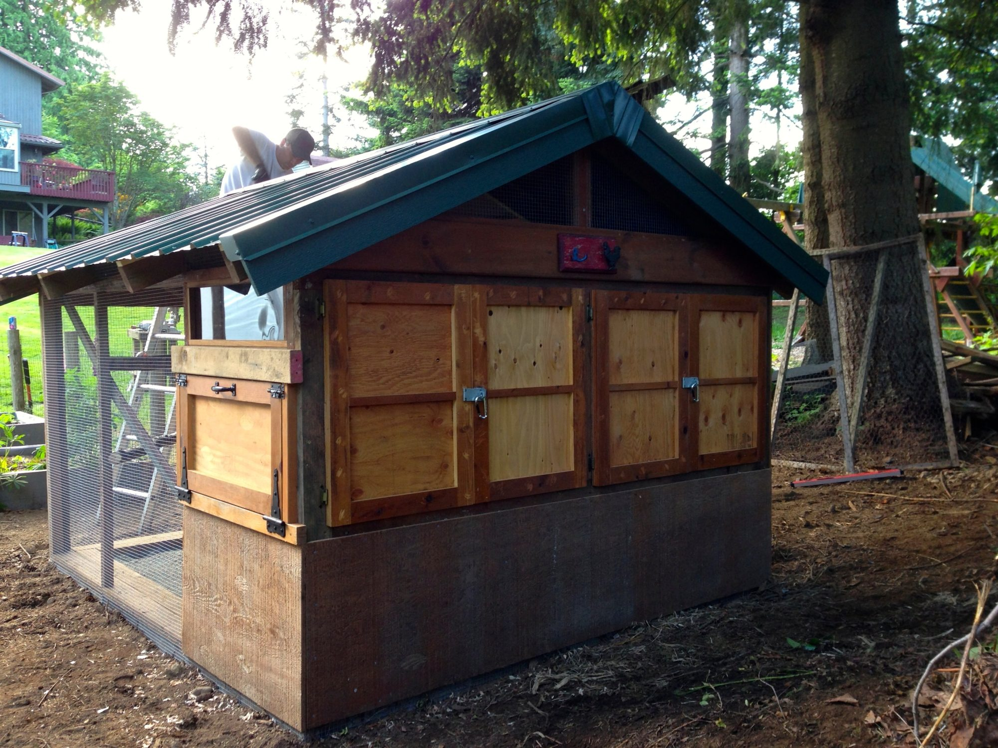 Repurposed Garden Shed To Quaint Coop Backyard Chickens