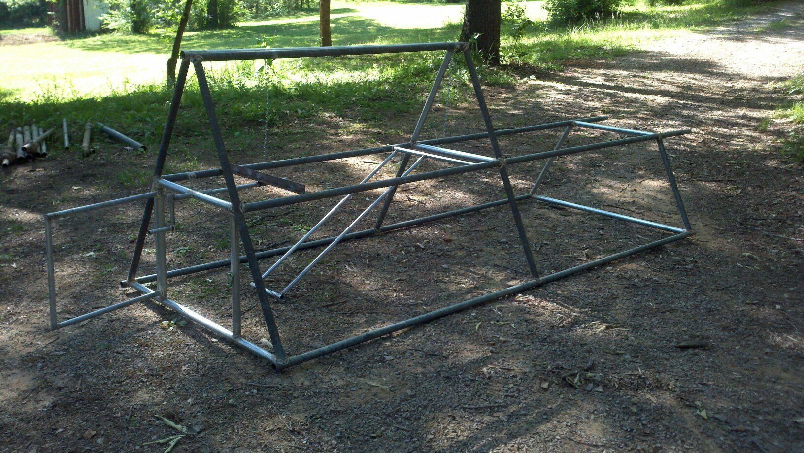 Two Level A Frame From Repurposed Chain Link Fence Top