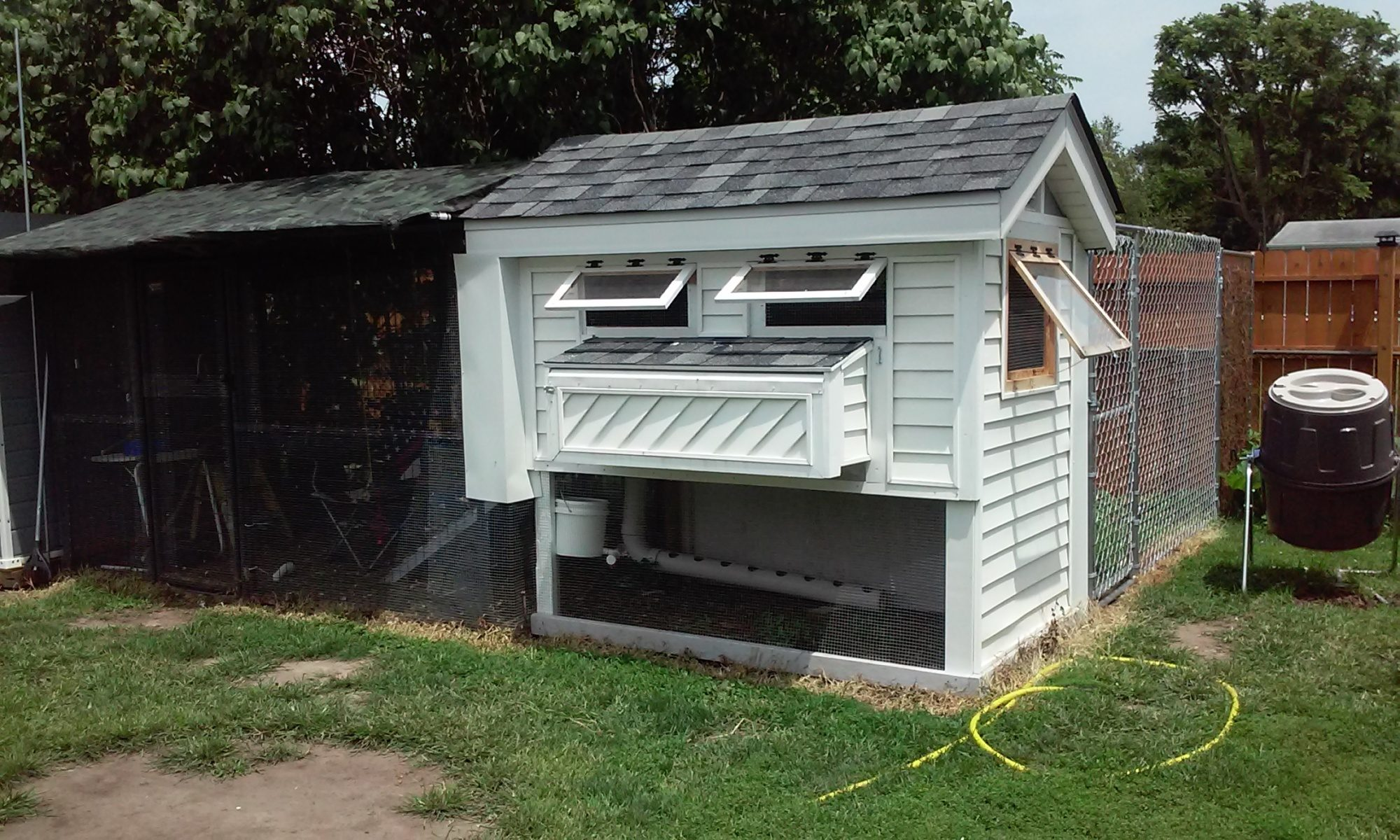 diy automatic coop door backyard chickens