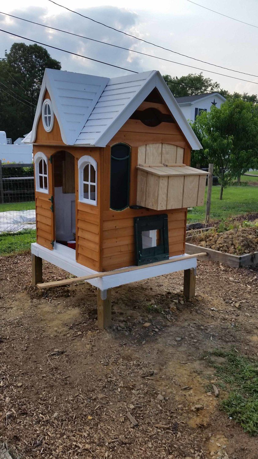 how to turn a playhouse into an enchanted chicken coop